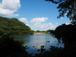 烏原貯水池からひよどり展望公園