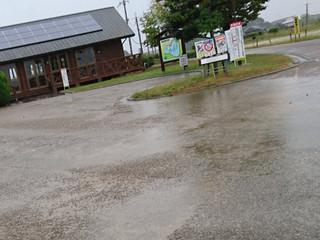 大雨強風の加古大池