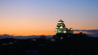 夕刻のグラデーション(姫路城)