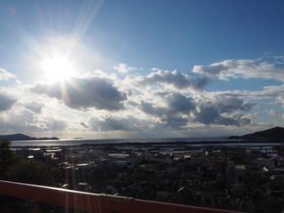 紀三井寺から和歌浦湾の空