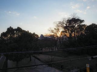 野里門跡から見る姫路城大天守