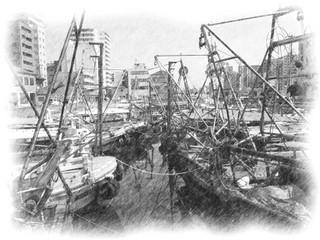 漁船ぎっしり