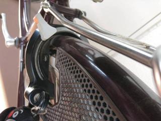 自転車の錠が脱落