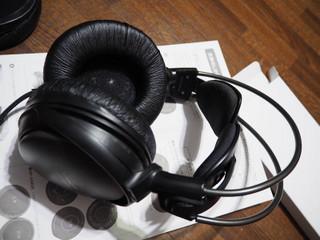 audio-technica アートモニターヘッドホン ATH-A500イヤパッド交換