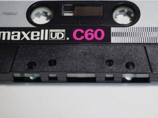 maxellカセットテープのリーダーテープ